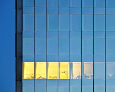 Trattamento su vetrate esterne