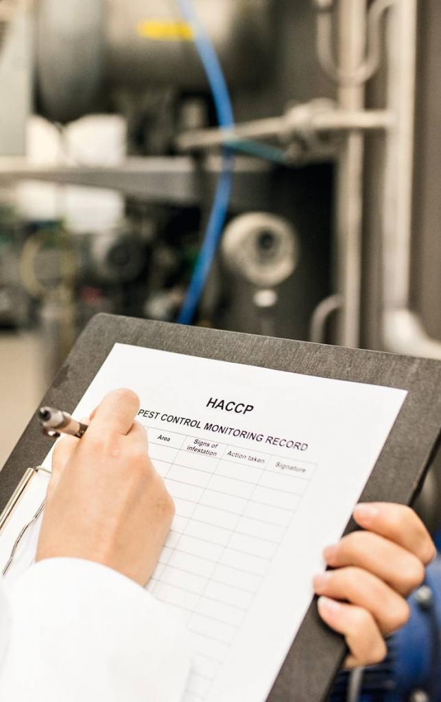 HACCP - documentazione relativa al sistema di monitoraggio