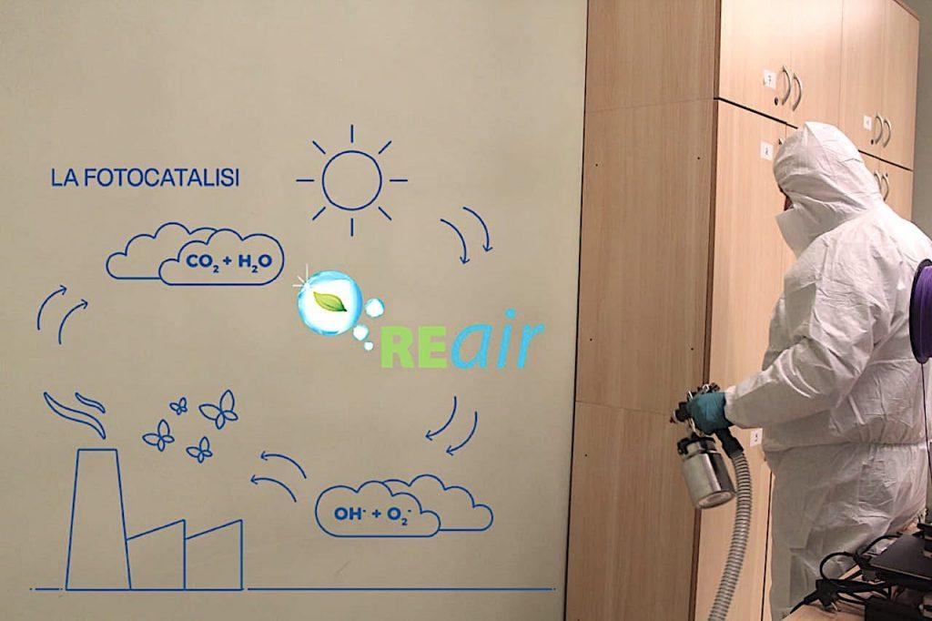 Strutture ricettive fotocatalisi REair